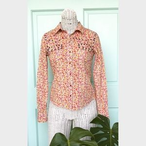 ROMEO & JULIET COUTURE  floral western shirt